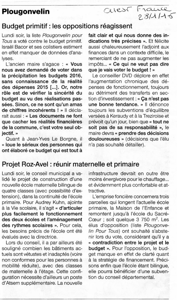 Ouest france28012016